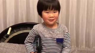 親子でスマブラWii U【かず4歳】リンクVSクッパ【神業】