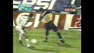 サッカーリケルメ 反転ヒール股抜きドリブル 神業 アルゼンチン