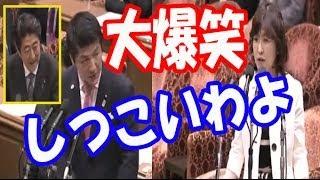 爆笑国会!稲田朋美が木下智彦のしつこさに余裕の答弁に安倍総理も爆笑!木下「そうなんです」【面白国会中継】
