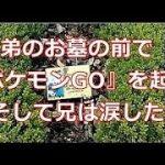 【感動】弟のお墓の前で『ポケモンGO』を起動。その画面を見て、兄は涙した…