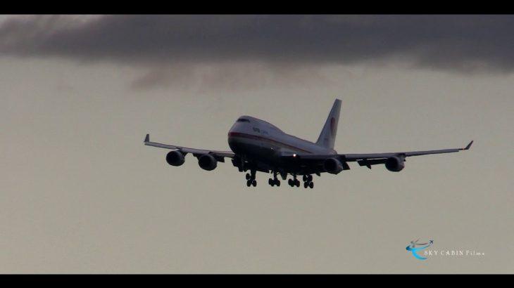 男泣き寸前!! 神業!! 強烈な左バンクからのタッチダウン!! 退役間近の政府専用機747を撮影した!!