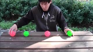 【神業】??ビリヤード × ジャグリング ぶつかるボールの動きが面白いトリックショットの応用映像 日本人