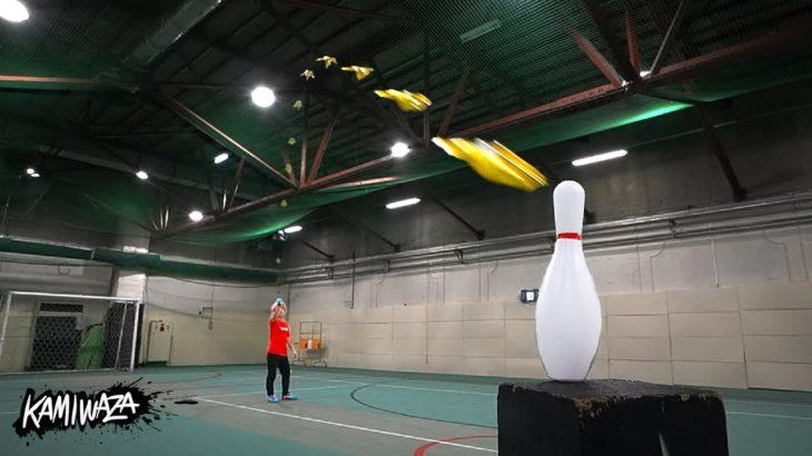 紙ヒコーキ神業 | KAMIWAZA (Paper Airplane Trick shots)
