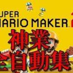 【マリオメーカー2】止まってるだけで神業連発!?全自動マリオコース集!