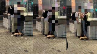 【音声あり】渋谷の男女が驚きの行動をし話題に…。