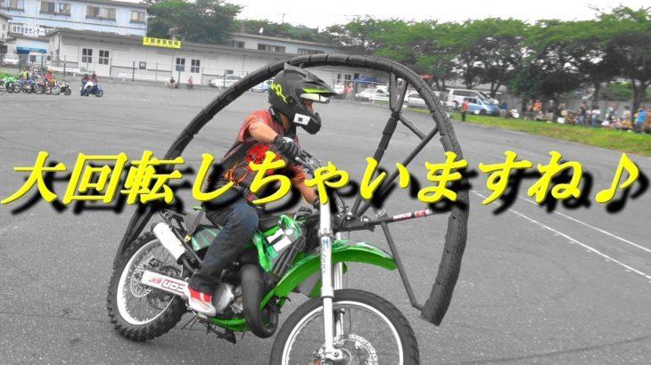 火花散らすウィリーにバイクごと一回転!神業連発エクストリームバイク!
